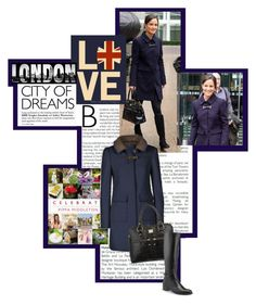 """""""Pippa Middleton Celebrates in Fay Coat"""" by mf-fashion-and-styling-perth ❤ liked on Polyvore featuring Pippa, WALL, top handle bags, coat, boots, aquatalia boots, suede boots, leather boots, wool coat and fay"""