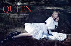 Deutsch Vogue October 2014 - 'Fairy Queen' Shot by Phil Poynter @philpoynter Styled by Amanda Harlech @amadaharlech Hair by Lyndell Mansfield @itslyndell Make-up by Andrew Gallimore @instagallimore @clmagency Models: Nastya Sten & Sophie Touchet @thesocietynyc Produced by Camilla Johnson-Hill - The Production Club