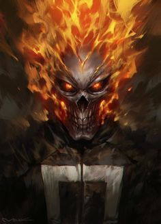 ghost rider, Yutthaphong Kaewsuk on ArtStation at https://www.artstation.com/artwork/B68m6