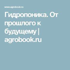 Гидропоника. От прошлого к будущему | agrobook.ru