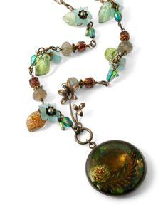 """serene lagoon"" necklace by jess italia lincoln"