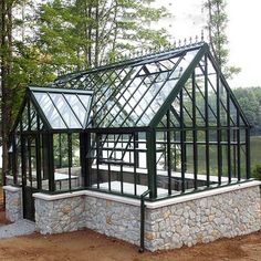 metal cheap custom made life size garden wrought iron gazebo with glass for outdoor decor-You Fine Sculpture Greenhouse Attached To House, Backyard Greenhouse, Small Greenhouse, Greenhouse Plans, Backyard Landscaping, Pallet Greenhouse, Portable Greenhouse, Garden Gazebo, Balcony Garden