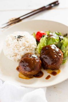 Japanese Tofu Hamburger make a great dinner for any night of the week. Serve with rice and veggies for a fabulous meal.