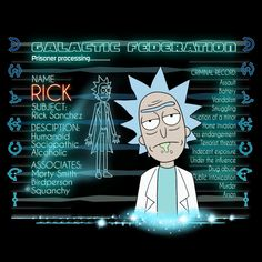 Free Rick Sanchez - You Can't Hide Your Schwifty Eyes - Neatorama