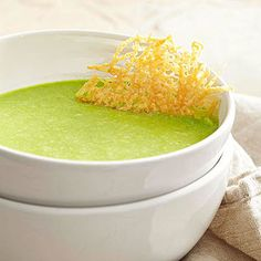 This healthful recipe calls on peas, one of the most beloved veggies of spring! PS: To make the simple recipe even easier, omit the homemade crisps and simply top with purchased croutons.