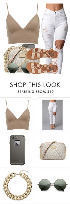 """""""i sh.it on you bit.ches just to show ain't no competetion"""" by dej0 ❤ liked on Polyvore featuring LifeProof, MICHAEL Michael Kors, Topshop and Billabong"""