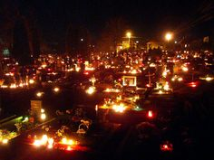 candles lit in a cemetery on all souls day Joyous Celebration, Saints Days, All Souls Day, Life Symbol, Vintage Candles, After Life, Festival Lights, Family Traditions, Samhain