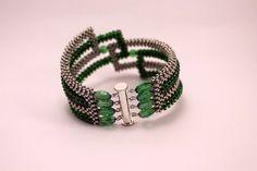Зеленый браслет | biser.info - всё о бисере и бисерном творчестве