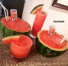 Salty Watermelon Cocktail - For more delicious recipes and drinks, visit us here: www.tipsybartender.com