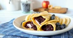 Grain Free Crepes with Apple Berry Compote | Once A Month Meals