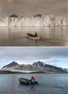 Global Warming Evidence: Shocking Then & Now Photos Reveal What 100 Years of Cli. - Global Warming Evidence: Shocking Then & Now Photos Reveal What 100 Years of Climate Change Has Don - Our Planet, Our World, Cool Pictures, Funny Pictures, Ocean Pictures, Surfing Pictures, Funny Pics, Beautiful Pictures, Amazing Animals