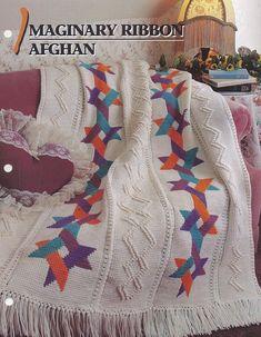Imaginary Ribbon Afghan Annie's Crochet Quilt & Afghan