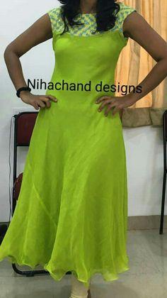 Simple Kurti Designs, Salwar Designs, Kurti Neck Designs, Kurta Designs Women, Kurti Designs Party Wear, Long Dress Design, Dress Neck Designs, Designs For Dresses, Indian Designer Outfits