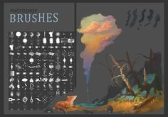 All brushes, that I use now.Mostly found in Internet, but some is home-made