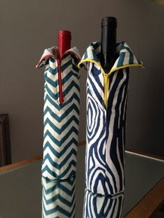 How to Sew Zippered Wine Bottle Bags - A Free Tutorial and PDF from Clever…