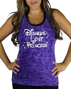 Disneys Lost Princess Womens WHITE INK Burnout Tank Top Purple Large ** Read more reviews of the product by visiting the link on the image.
