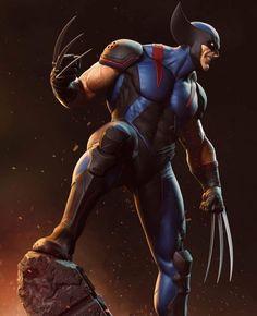 Chibi Marvel, Marvel Xmen, Marvel Comic Universe, Marvel Comics Art, Marvel Heroes, Wolverine Art, Logan Wolverine, Wolverine Pictures, Apocalypse Comics