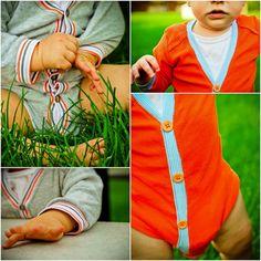 How to Sew a Cardigan Onesie #embellishyouronesie