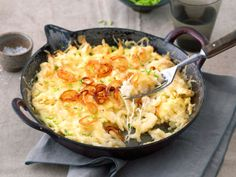 Ein Gericht, das satt, glücklich und zufrieden macht - und zudem noch im Nu fertig ist? Probiert unsere Käsespätzle!