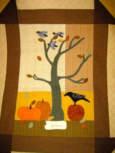 Close up of Jan's birthday quilt. Fall.