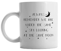 Long distance relationship mug | The best goodbye gifts make the distance feel smaller, like this sweet mug.