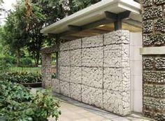 gabion stone house cladding veneer Gabion Walls Pinterest