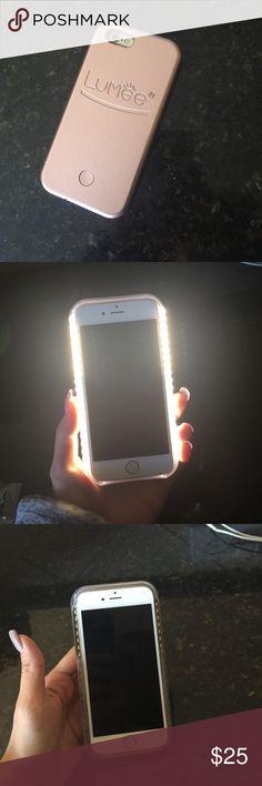 Lemee lighted selfie phone case6 Pearl pink Lumee lighted selfie case iPhone 6 Lumee Accessories Phone Cases