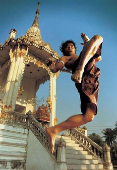 Tony Jaa was raised in Surin province 400 km from Bangkok. As he grew up he watched films by Bruce Lee, Jackie Chan, Vince Lam and Jet Li at temple fairs, which was his inspiration to learn martial arts. He was so inspired by them that while he was doing chores or playing with friends, he would imitate the martial arts moves that he had seen, practicing in his father's rice paddy. He is a well versed martial artist excelling in Muay Boran, Muay Thai, Aikido, Judo, Wushu & Taekwondo.
