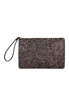 Primark black glitter wrist purse #partyessential!