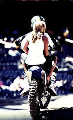 Theres somethin' about riding on the back of your mans bike <3