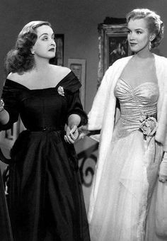 Marilyn and Bette Davis in All About Eve