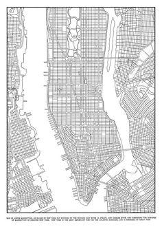 1944 New York City Manhattan Grid Map Vintage Black and White Print Poster Lower Manhattan, Manhattan Map, New York City Manhattan, New York City Map, City Maps, New York Illustration, Nyc Subway Map, City Layout, Map Design