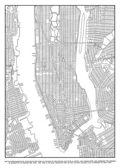 1944 New York City Manhattan Grid Map Vintage 16x20 Black and White Print Poster on Etsy, $12.95. Cut into pieces behind window frame