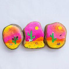 """Feeling """"deserted."""" . . . #desert #cactus #sun #paint #painting #art #artist…"""