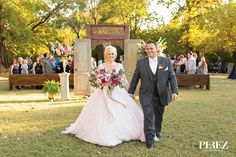 Outdoor Ceremony aisle at Vibrant Mint & Pink Vintage Barn Wedding Blog - RENT MY DUST Vintage Rentals Dallas Texas ~ flowers by The Southern Table, photo by Perez Photography