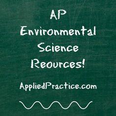 AP Environmental Science test prep and more!  AppliedPractice.com #APEnviro #TeacherResources #AppliedPractice