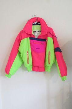 Vintage ski jackets neon