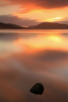 Sunset Reflected ... Loch Duntelchaig, Inverness, Scotland -- by Gordie Broon. on Flickr
