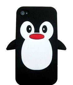 Cute Penguin iPhone 4 / 4S Case.  Only $14.99!