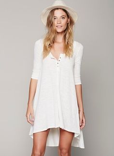 Cotton Solid Half Sleeve High Low Casual Dresses