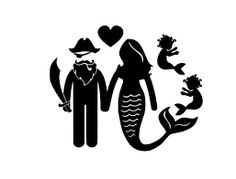 Image result for pirate and mermaid