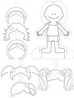 Cute free paper doll templates to print and color. They'll keep your child busy for hours and make a great gift for your sponsored child.                                                                                                                                                                                 Más