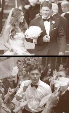 Jensen and Danneel Ackles on their wedding day.