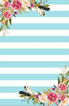 Wallpaper Backgrounds, Iphone Wallpaper, Tropical Wallpaper, Stationery Paper, Floral Border, Planner Template, Note Paper, Printable Paper, Dividers