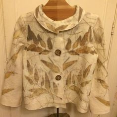 Nuevas chaquetas! Talla 40. #ecoprint #handmade #naturaldye #lanasyfieltrosesfema