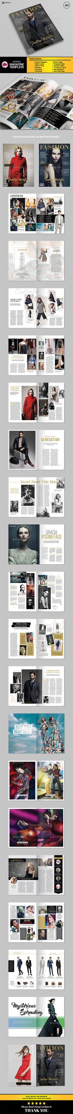 New Fashion Magazine Template InDesign INDD. Download here: http://graphicriver.net/item/new-fashion-magazine/16722703?ref=ksioks