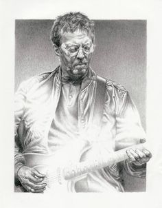 Eric Clapton Original Sketch Art Poster Print by by Innerwallz, $15.00