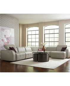 Neptune Coffee Table with Storage Ottomans macyscom New house