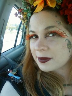 I figured I would show Rubella's friend, Autumn the fairy and her makeup! One of those rare moments she is captured!