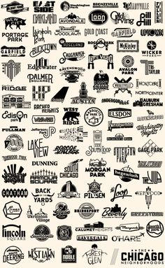 The Chicago Neighborhoods - Steve Shanabruch Graphic Design   Chicago, IL